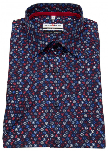 Marvelis Kurzarmhemd - Comfort Fit - Print - mehrfarbig - 7029 72 35