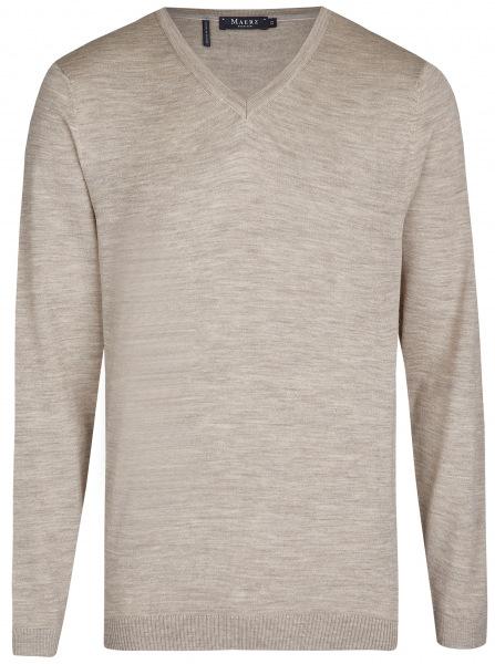 MAERZ Muenchen Pullover - Modern Fit - V-Ausschnitt - beach - 403800 148