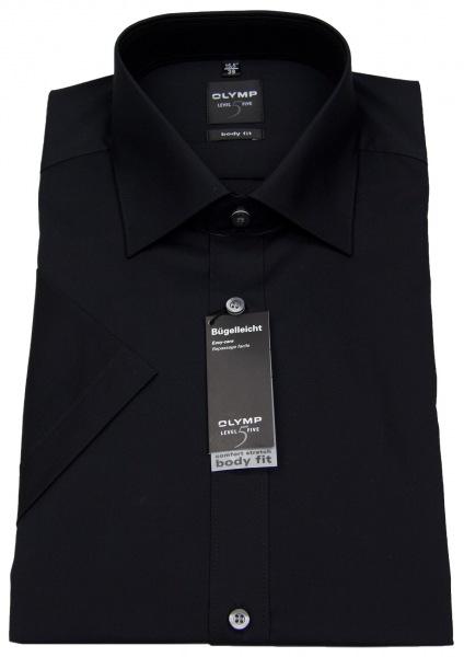 OLYMP Kurzarmhemd - Level Five Body Fit - schwarz - 6090 12 68
