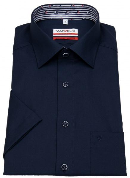 Marvelis Kurzarmhemd - Modern Fit - Patch - dunkelblau - 7236 32 80