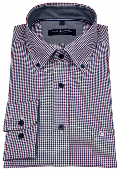 Casa Moda Hemd - Comfort Fit - Button Down Kragen - mehrfarbig - 413636200 401