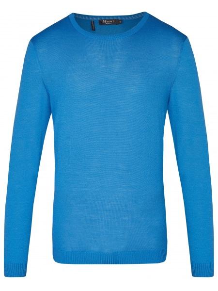 MAERZ Muenchen Pullover - Modern Fit - Rundhals-Ausschnitt - blau - 401800 327