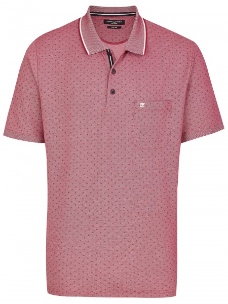 Casa Moda Poloshirt - Print - pflaume - 993106200 973