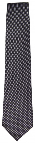 OLYMP Seidenkrawatte - feines Muster - schwarz / grau - 1655 00 68