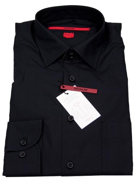 Signum Hemd - Modern Fit - schwarz - 999 001 107 - 999