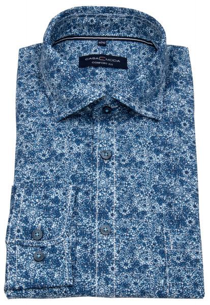 Casa Moda Hemd - Comfort Fit - Print - blau / türkis - 403423300 350