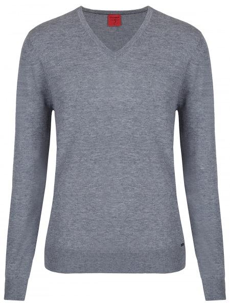 OLYMP Pullover - Level Five Body Fit - Merinowolle - grau - 0151 10 63
