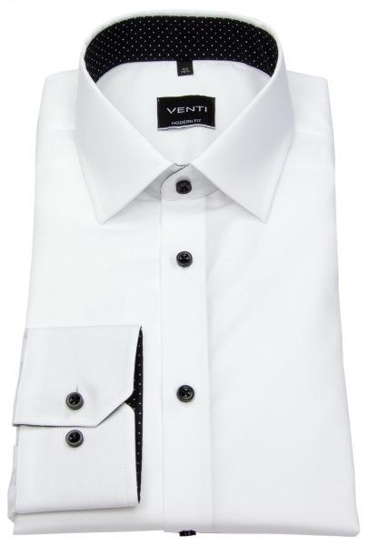 Venti Hemd - Modern Fit - Kontrastknöpfe - weiß - 193157700 001