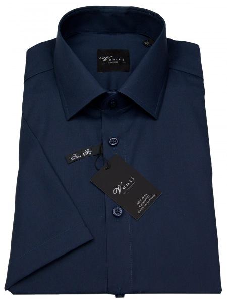 Venti Kurzarmhemd - Slim Fit - dunkelblau - 001620 109