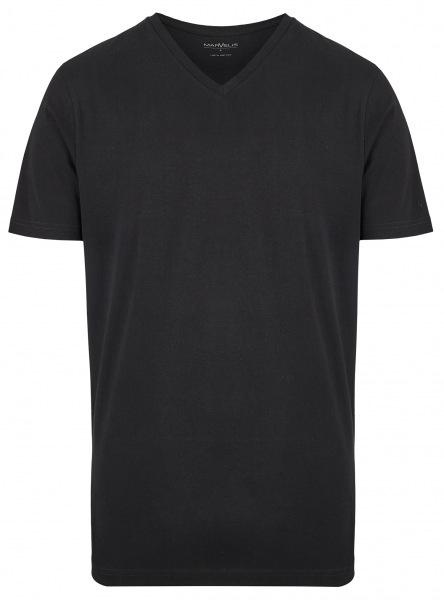 Marvelis T-Shirt Doppelpack - Modern Fit - V-Ausschnitt - schwarz - 2817 00 68