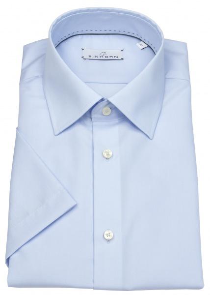 Einhorn Kurzarmhemd - Regular Fit - Derby - hellblau - 824 11305 21
