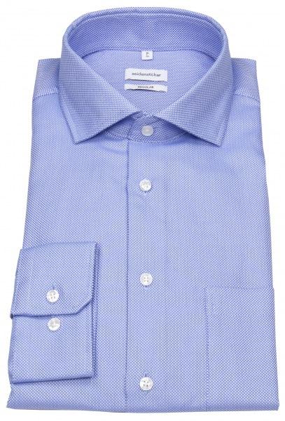 Seidensticker Hemd - Regular Fit - Struktur - blau - 194657.13