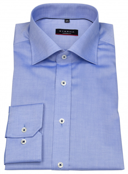 Eterna Hemd - Modern Fit - Fein Oxford - blau - 8100 X177 12