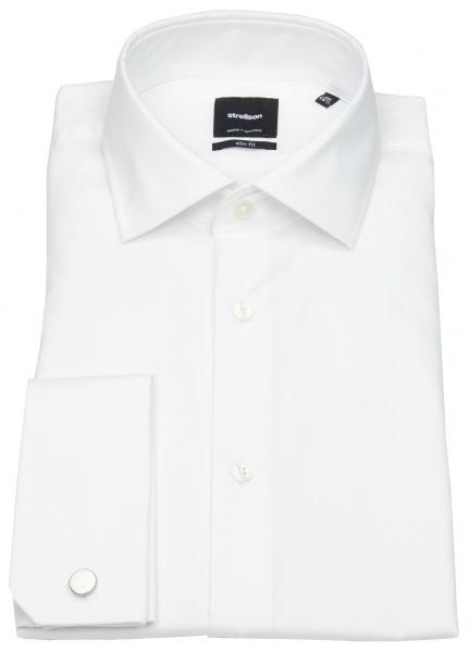 buy popular d5f26 caa79 Strellson Slim Fit - Umschlagmanschette - weiß
