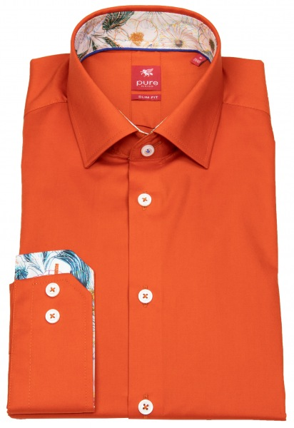 Pure Hemd - Slim Fit - Patch - orange - 91017-21106 610