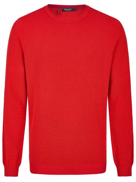 MAERZ Muenchen Pullover - Comfort Fit - Rundhals - Struktur - rot - 453301 463