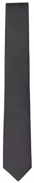 OLYMP Seidenkrawatte - Super Slim - schwarz / weiß - 4698 00 68