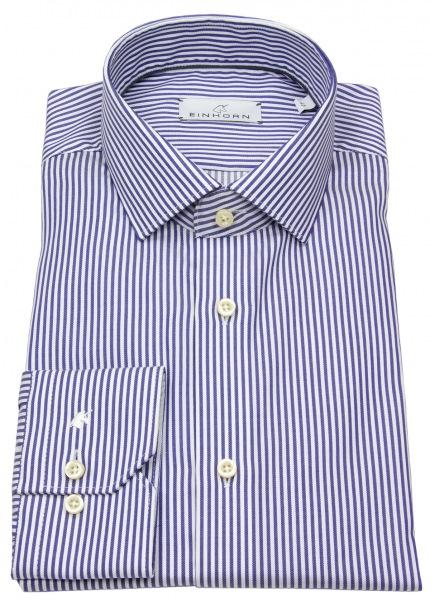 Einhorn Hemd - Modern Fit - Haikragen - Streifen - blau / weiß - 391711.1520 7