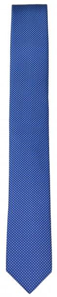 OLYMP Seidenkrawatte - Super Slim - blau / weiß - 4698 00 19