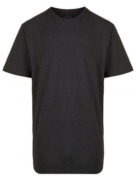 Ragman T-Shirt Doppelpack - Rundhals - schwarz - 40000 009
