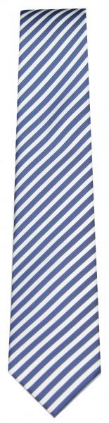 OLYMP Seidenkrawatte - dunkelblau / weiß gestreift - 4699 00 96