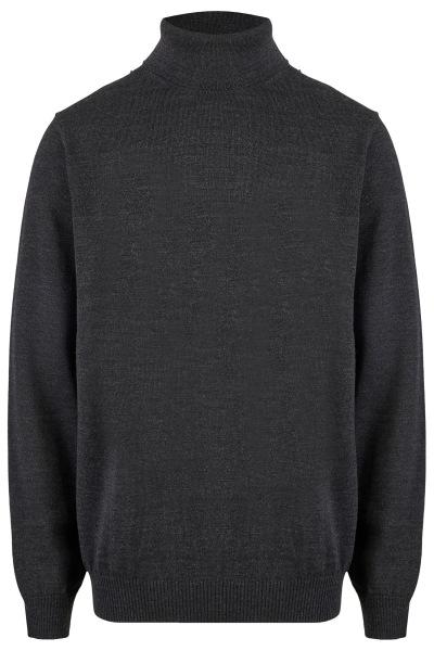 MAERZ Muenchen Pullover - Modern Fit - Merinowolle - Rollkragen - anthrazit - 470600 591