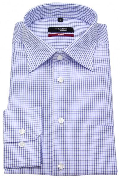 Seidensticker Hemd - Modern Fit - Gitterkaro - blau / weiß - 003100 16