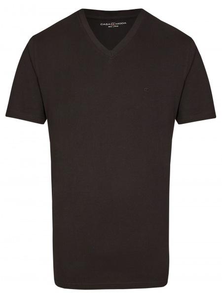 Casa Moda T-Shirt Doppelpack - V-Neck - schwarz - 092600 800