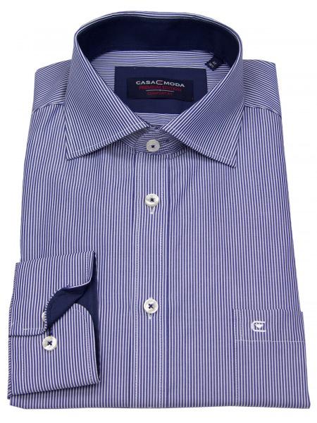 Casa Moda Hemd - Comfort Fit - Streifen - blau / weiß - 006350 100