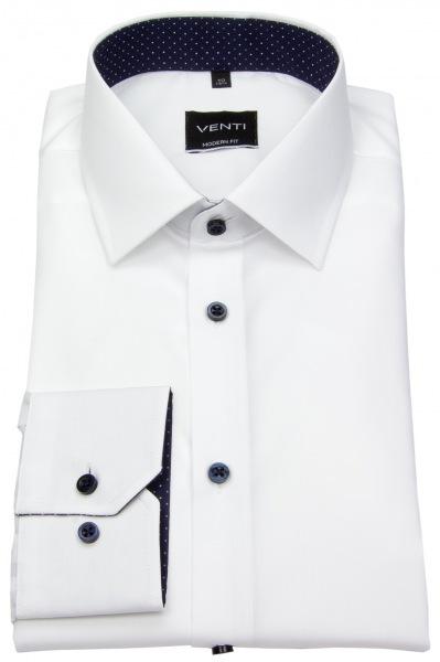 Venti Hemd - Modern Fit - Kontrastknöpfe - weiß - 193157700 000