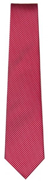 OLYMP Seidenkrawatte - feines Muster - rot / weiß - 1655 00 79