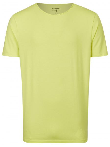 OLYMP Level Five Body Fit - T-Shirt - Rundhals-Ausschnitt - gelb - 5660 32 54