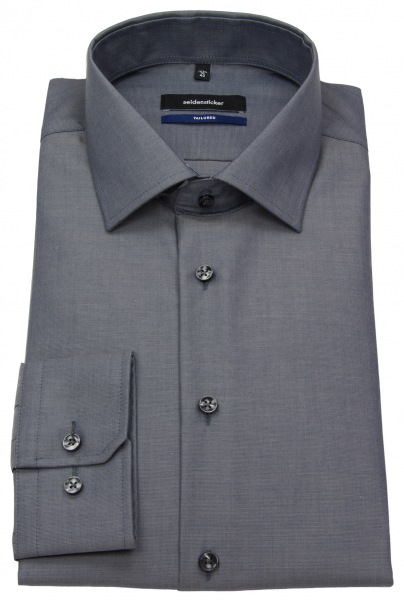 Seidensticker Hemd - Tailored Fit - Fil-a-Fil - anthrazit - 241600 34
