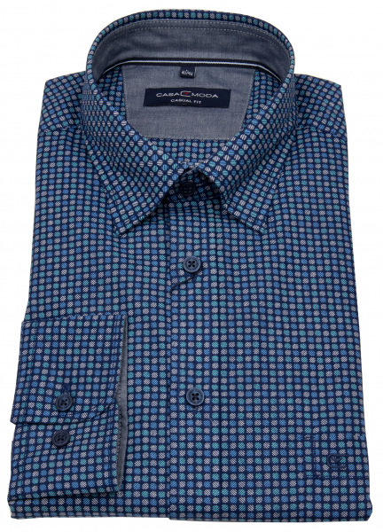 Casa Moda Hemd - Casual Fit - Under Button Down - Print - mehrfarbig - 403348500 300