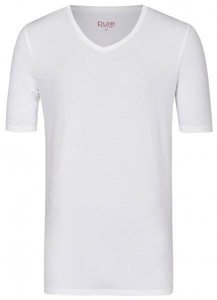 Pure T-Shirt - Slim Fit - V-Ausschnitt - weiß - 3398-92998 900