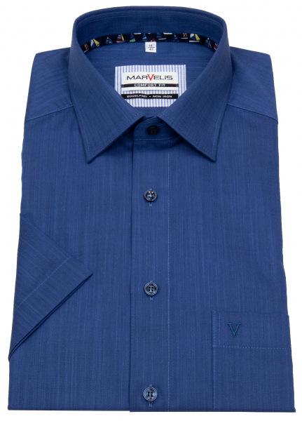Marvelis Kurzarmhemd - Comfort Fit - blau - 7063 72 18