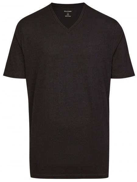 OLYMP T-Shirt Doppelpack - V-Ausschnitt - schwarz - 0701 12 68