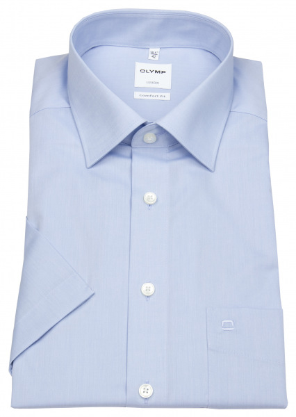 OLYMP Kurzarmhemd - Luxor Comfort Fit - Chambray - hellblau - 5131 12 11
