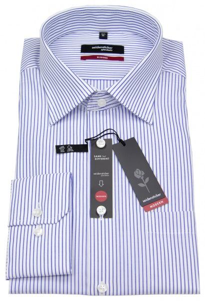 Seidensticker Hemd - Modern Fit - Streifen - blau / weiß - 003100 15