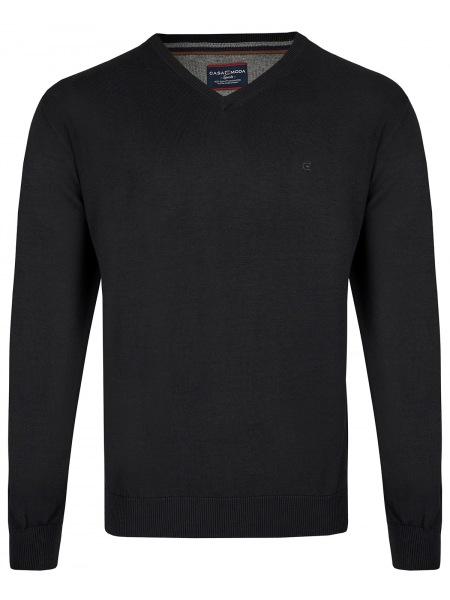 Casa Moda Pullover - V-Ausschnitt - schwarz - 004130 80