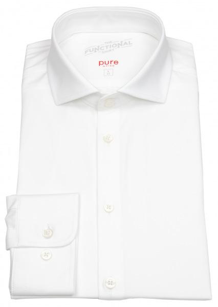 Pure Hemd - Slim Fit - Functional Shirt - Haifischkragen - weiß - 3385-21150 900
