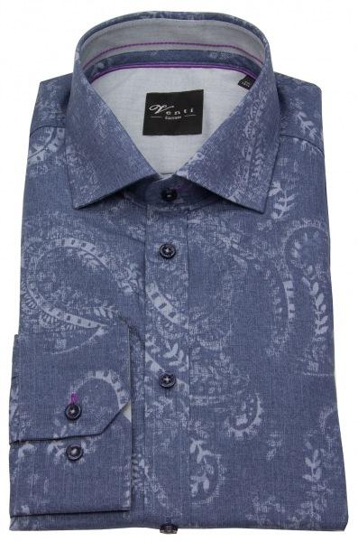 Venti Hemd - Slim Fit - Print - blau - 183029900 100