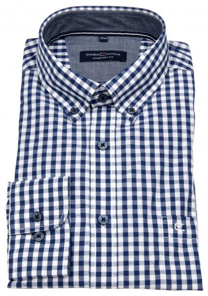 Casa Moda Hemd - Comfort Fit - Button Down Kragen - mehrfarbig kariert - 403440100 101