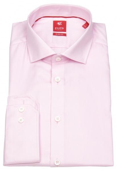 Pure Hemd - Slim Fit - Haifischkragen - rosa - 3380 174 340