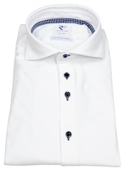 R2-Amsterdam Hemd - Modern Fit - Haifischkragen - Explorer Shirt - weiß - 110.WSP.093 / 004