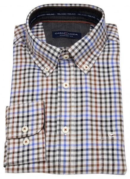 Casa Moda Hemd - Comfort Fit - Button Down Kragen - mehrfarbig kariert - 483087900 750