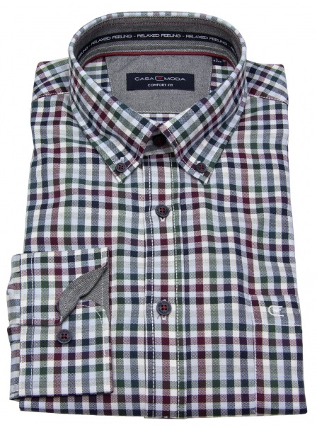 Casa Moda Hemd - Button Down Kragen - mehrfarbig kariert - 483016700 400