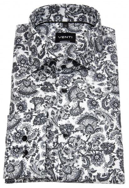 Venti Hemd - Modern Fit - Print - schwarz / weiß - 103412800 750