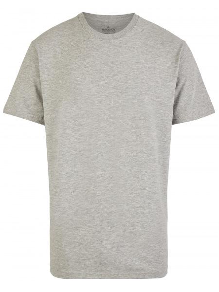 Ragman T-Shirt Doppelpack - Rundhals - grau - 40000 012