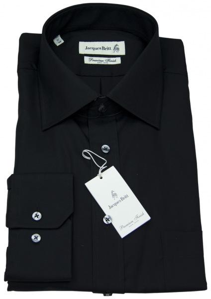 Jacques Britt Hemd - Eton Kragen - schwarz - ohne OVP - 950605-39
